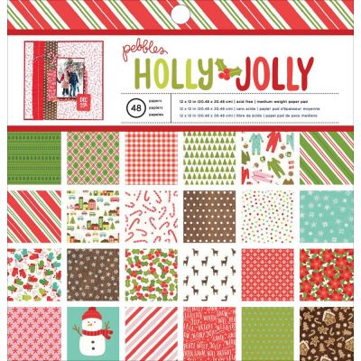 Pack 30x30 - Pebbles - Holly Jolly