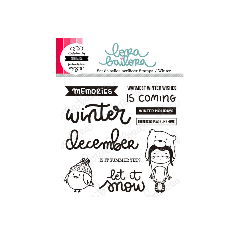 Tampons clear Lora Bailora - Winter