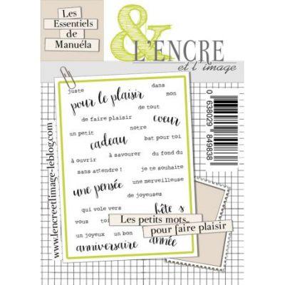 Tampons L'Encre & l'Image - Les Essentiels de Manuéla - Petits Mots pour faire plaisir