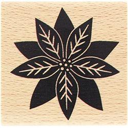 Tampon bois Florilèges - Poinsettia