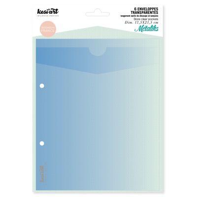 6 enveloppes transparentes de rangement Kesi'Art