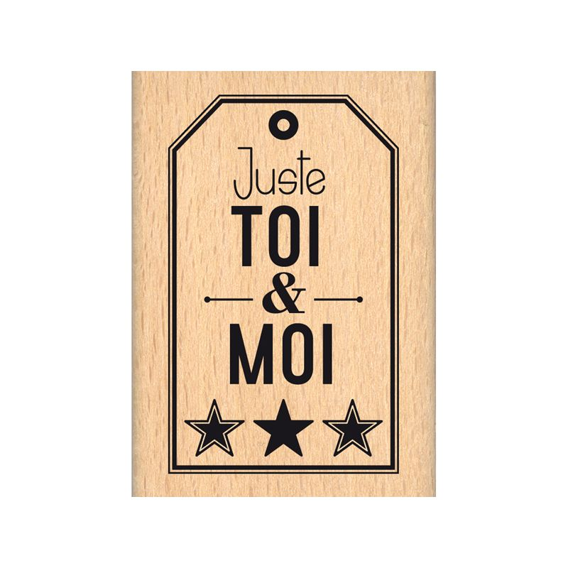 Tampon bois Florilèges - Un Rien Minimaliste - Toi et moi étoilé