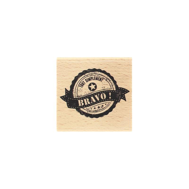 Tampon bois Florilèges - Petits Mots Doux - Simplement bravo