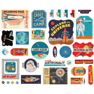 Die-cuts Ephemera Space Academy