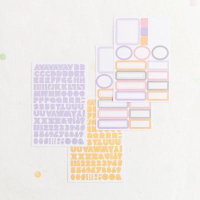 Stickers alphabet & étiquettes Lora Bailora - Pastel