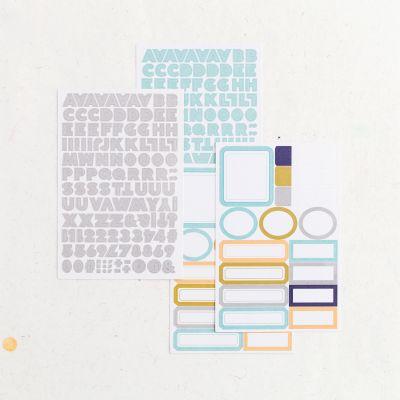 Stickers alphabet & étiquettes Lora Bailora - Tropico