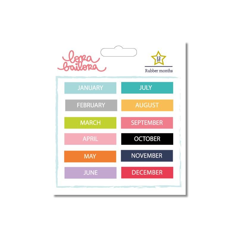 Stickers en gomme - Mois en anglais