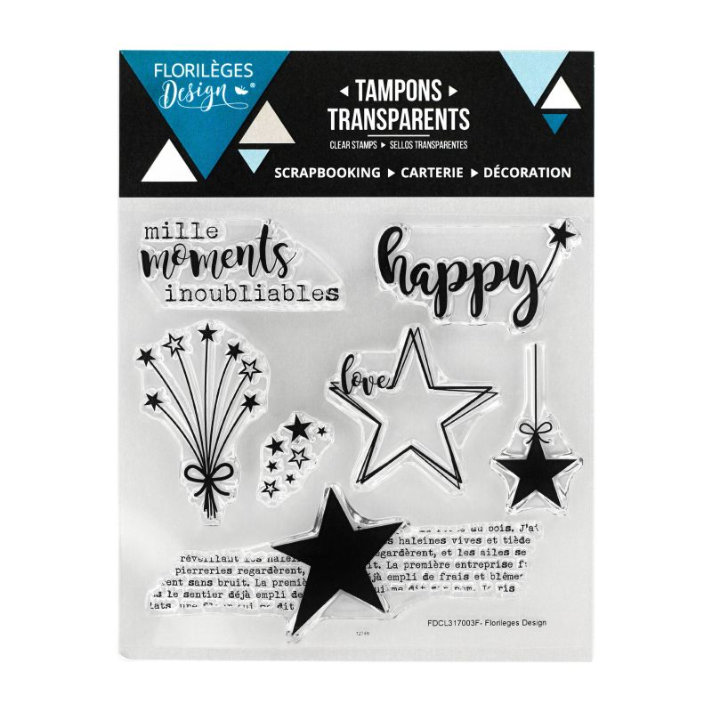 Tampons transparents Florilèges - Capsules 2017 - Mille moments