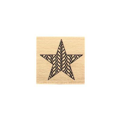 Tampon bois Florilèges - Étoile graphique