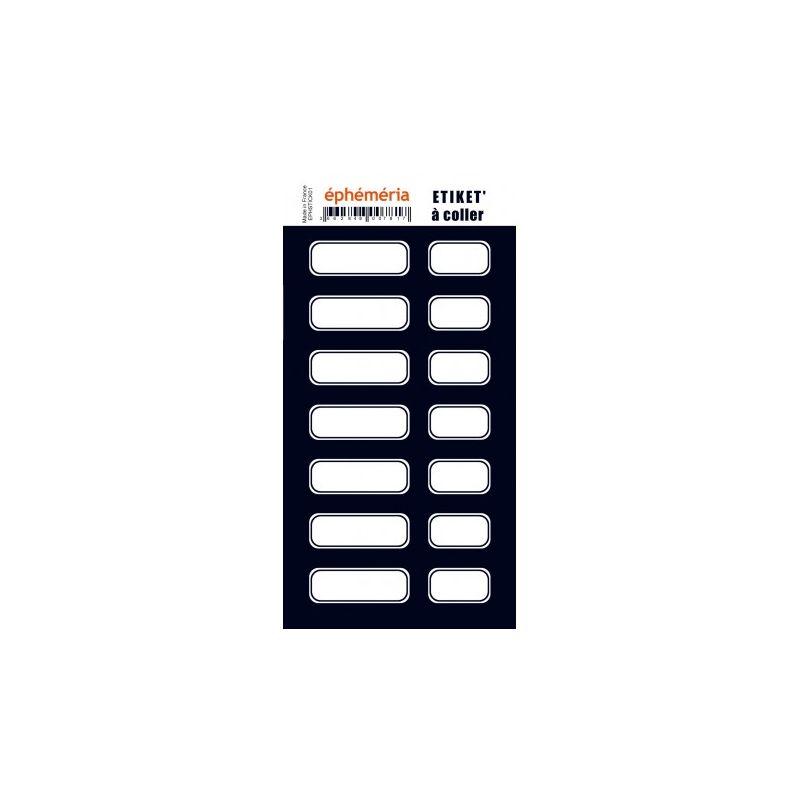 Stickers Ephemeria - Étiquettes noires