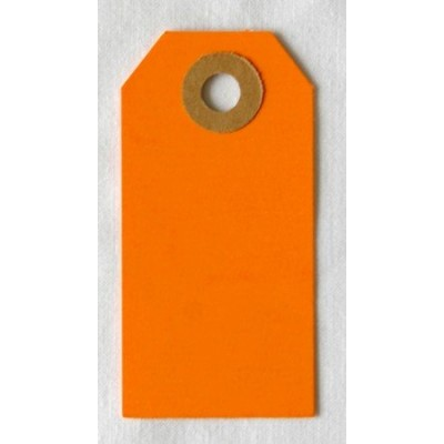 Etiquettes américaines 3.5x7 cm - Orange (Lot de 10)