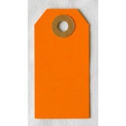 Etiquettes américaines 3.5x7 cm - Orange (Lot de 10)