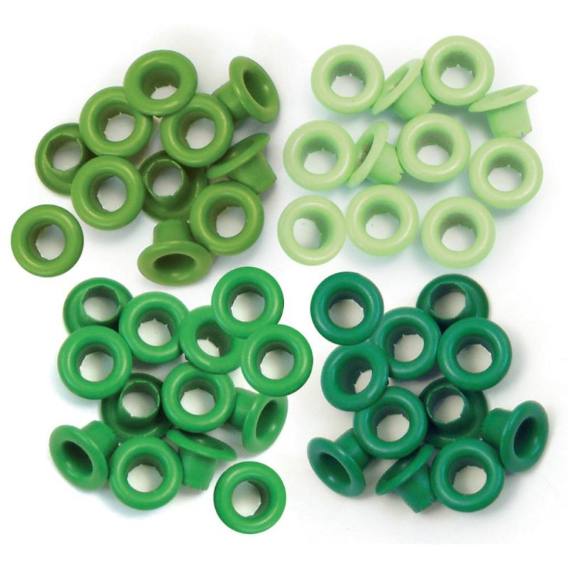 "Oeillets Standards 3/16"" - Coloris Vert"
