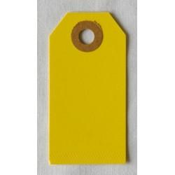 Etiquettes américaines 3.5x7 cm - Jaune (Lot de 10)