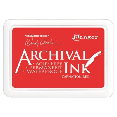Encre Archival Ink - Carnation red