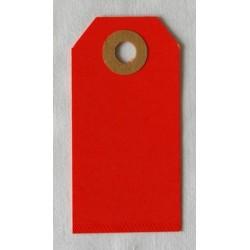 Etiquettes américaines 3.5x7 cm - Rouge (Lot de 10)