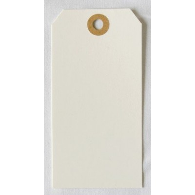 Etiquettes américaines 6x12 cm - Blanc cassé (Lot de 10)