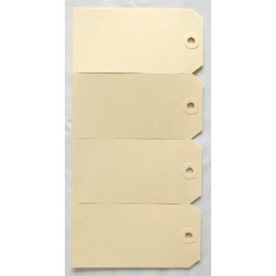 Etiquettes américaines 6x12 cm attachées par 4 - Beige