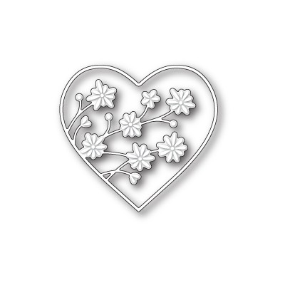 Die Memory Box - Drifting Flowers Heart