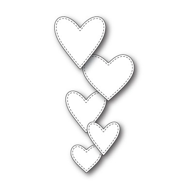 Die Memory Box - Classic Stitched Heart Collection