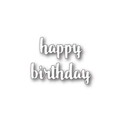 Die Memory Box - Happy Birthday Upright Script