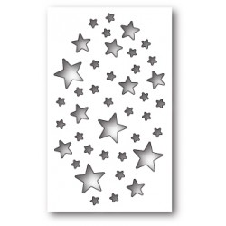Die Memory Box - Shimmer Star Collage