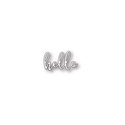 Die Poppystamps - Scribble Hello