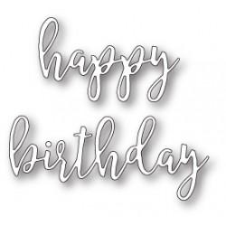 Die Poppystamps - Scribble Happy Birthday