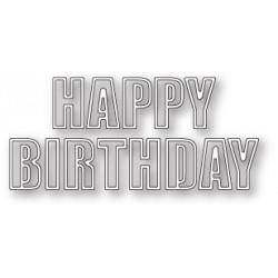 Die Poppystamps - Happy Birthday Bold Outline