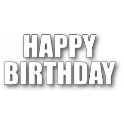 Die Poppystamps - Happy Birthday Bold