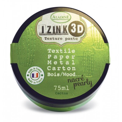 Pâte de texture Izink 3D - Nacrée - Cactus
