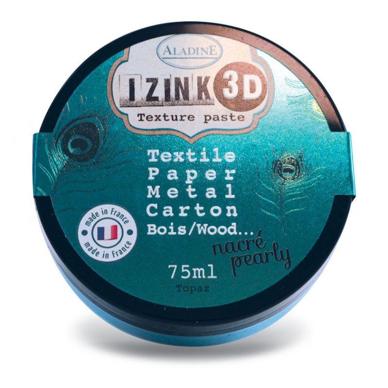 Pâte de texture Izink 3D - Nacrée - Topaz