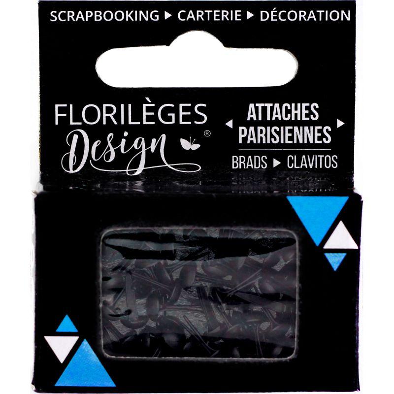 Mini Brads - Attaches Parisiennes - Florilèges - Carbone