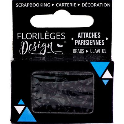 Mini Brads - Attaches Parisiennes - Florilèges - Carbone