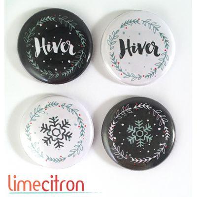 """Badges Lime Citron 1"""" - Hiver"""