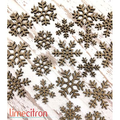 Chipboards Lime Citron - Flocons