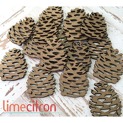 Chipboards Lime Citron - Pommes de pins