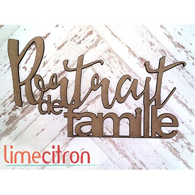 Chipboards Lime Citron - Portrait de famille