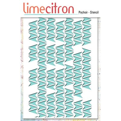 Pochoir Lime Citron 10x15 cm - Flèches