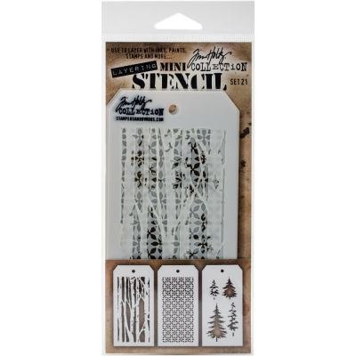 Mini Layered Stencil Tim Holtz - Set 21