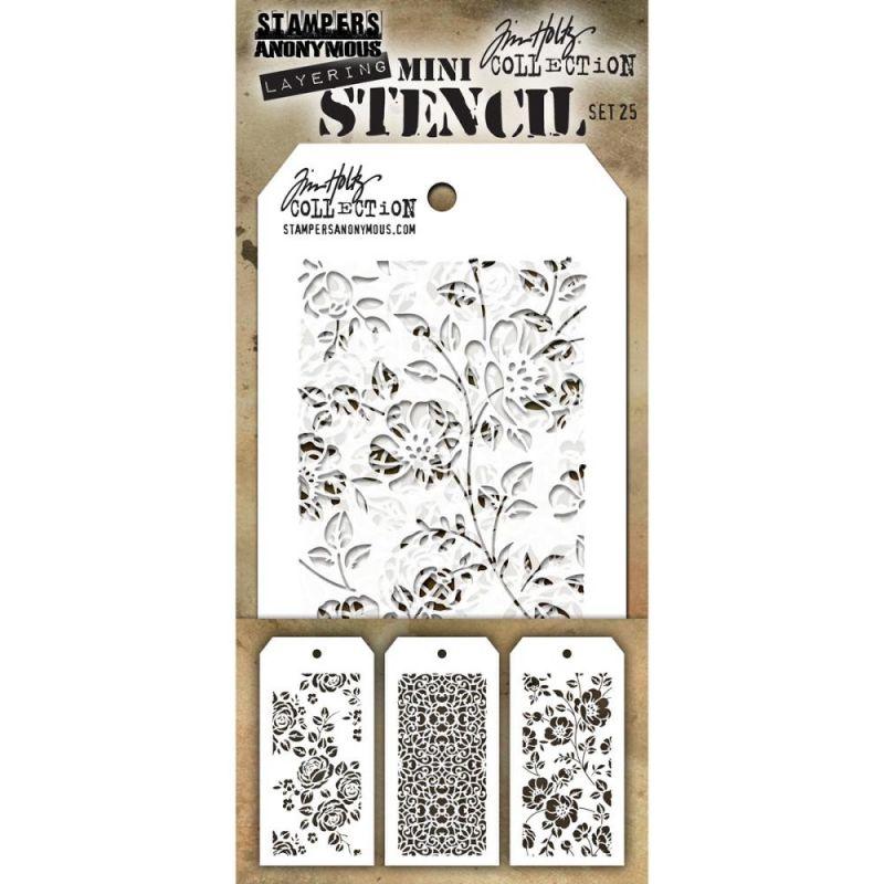 Mini Layered Stencil Tim Holtz - Set 25