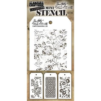 Mini Layered Stencil Tim Holtz - Set 25