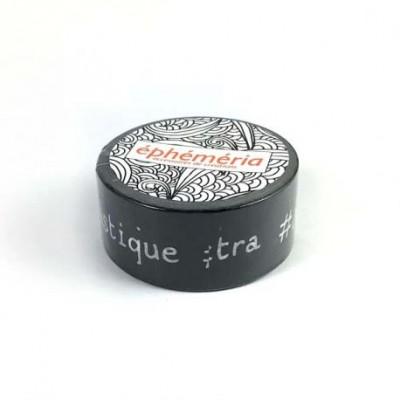 Masking Tape Ephemeria - Mots Hastag Fond Noir