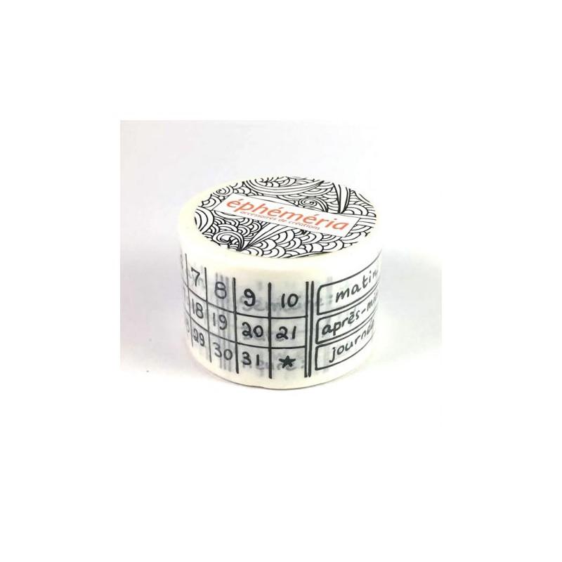 Masking Tape Ephemeria - Calendrier permanent