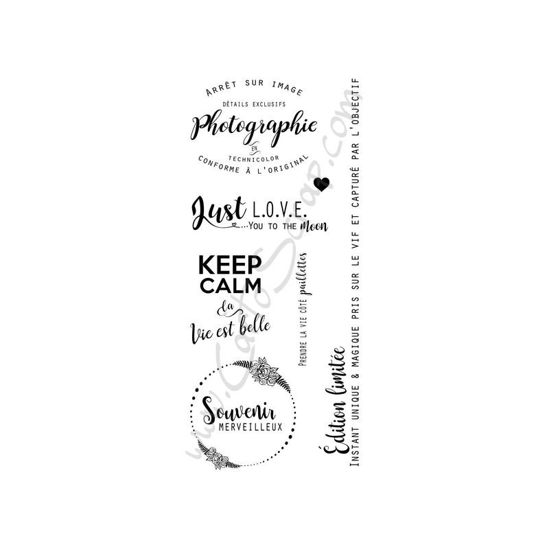Tampons CartoScrap - La Vie est Belle