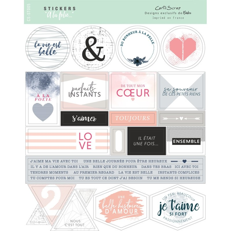 Stickers Cartoscrap - A la Folie