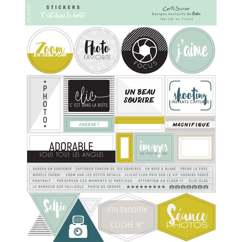 Stickers Cartoscrap - C'est dans la Boîte