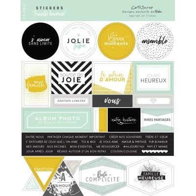 Stickers Cartoscrap - Famille Heureuse