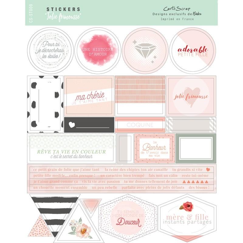 Stickers Cartoscrap - Jolie Frimousse
