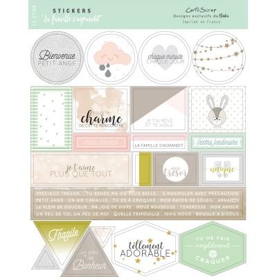 Stickers Cartoscrap - La Famille s'agrandit